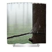 Webs And Dew Shower Curtain