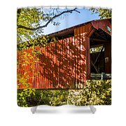 Webster/dick Huffman Covered Bridgesw Of Putnamville, Washingto Shower Curtain