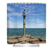 Webster Jetty Light Shower Curtain