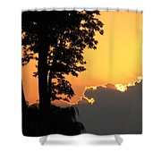 Webster Ny Sunset Shower Curtain
