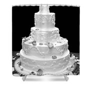 Wedding Cake Shower Curtain
