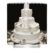 Wedding Cake Petals Shower Curtain