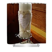 Wedding Candle  Shower Curtain
