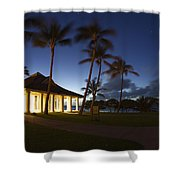 Wedding Chapel At Turtle Bar Resort Shower Curtain