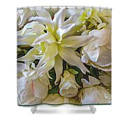 Wedding Day Bouquet Shower Curtain