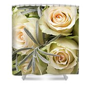 Wedding Flowers Shower Curtain by Wim Lanclus