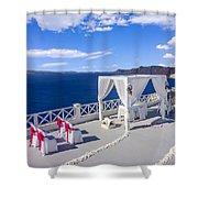 Wedding On The Greek Isles Shower Curtain