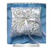 Wedding Ring Pillow. Ameynra Beadwork Shower Curtain