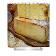 Wedges Of Ripe Cheese Wrapped Shower Curtain