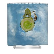 Wee Chapel Ruins Shower Curtain
