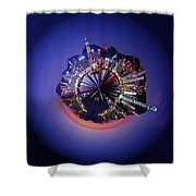 Wee Hong Kong Planet Shower Curtain