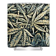 Weed Abstracts Four Shower Curtain
