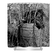 Weed Covered Mailbox Shower Curtain