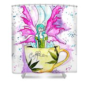 Weed Fairy Naptime Shower Curtain