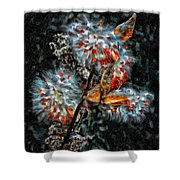 Weed Galaxy Painted Version  Shower Curtain