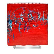 Weeds Abstract Shower Curtain