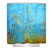 Weeds And Water Shower Curtain