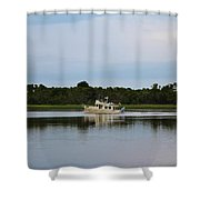 Weekend Boating Shower Curtain