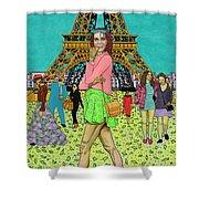 Weekend In Paris Shower Curtain