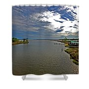 Weeks Bay At Sunset Shower Curtain