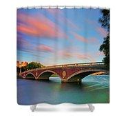 Weeks' Bridge Shower Curtain by Rick Berk