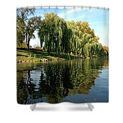 Weepin Willows Frankenmuth Cass River Shower Curtain