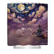 Weeping Of Violin Shower Curtain