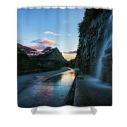 Weeping Wall At Dusk Shower Curtain