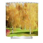 Weeping White Birch Shower Curtain
