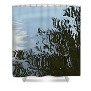 Weeping Willow Reflection Shower Curtain