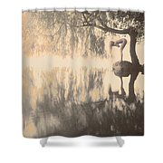 Weeping Willow Woman Shower Curtain