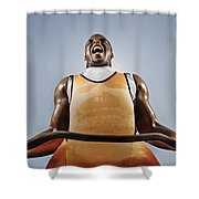 Weightlifting Shower Curtain