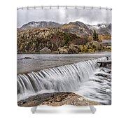 Weirs Rapids Snowdonia Shower Curtain