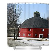 Welch Round Barn Shower Curtain