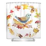 Welcome Back Autumn Shower Curtain