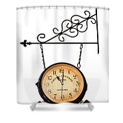 Welcome Clock.11 Am Shower Curtain