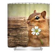 Welcome Spring Shower Curtain by Lori Deiter