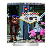 Welcome To Fabulous Hersheys Sign Shower Curtain