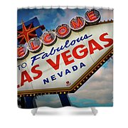 Welcome To Fabulous Las Vegas Shower Curtain