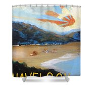 Welcome To Havelock New Zealand Shower Curtain