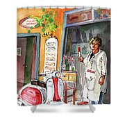 Welcome To Italy 04 Shower Curtain by Miki De Goodaboom