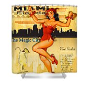 Welcome To Miami Shower Curtain