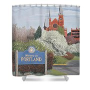 Welcome To Portland Shower Curtain