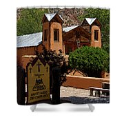 Welcome To Santuario De Chimayo Shower Curtain
