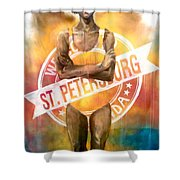 Welcome To St. Petersburg Shower Curtain