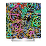 Welcome To The Machine Green Shower Curtain
