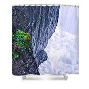 Welcome To The White Area Shower Curtain