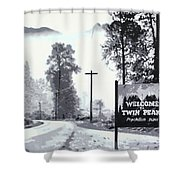 Welcome To Twin Peaks Shower Curtain