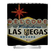 Welcome To Vegas Knights Sign Digital Drawing Shower Curtain