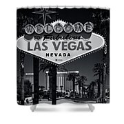 Welcome To Vegas Xi Shower Curtain